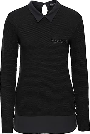 2-in-1-Pullover mit Bluse langarm in schwarz von bonprix Bodyflirt
