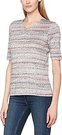 Bonita Platzierter Druck, Halbarm, Camiseta para Mujer, Multicolor (Pastel Aqua 6823), 42 (Talla del Fabricante: X-Large)