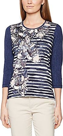 Bonita Gemustert, Langarm, Camiseta para Mujer, Multicolor (Satellite 8576), 40 (Talla del Fabricante: Large)