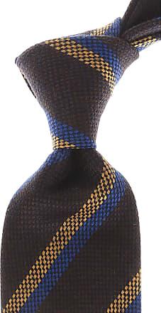 Ties On Sale, Midnight Blue, Wool, 2017, one size Borrelli Napoli