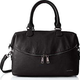 Damen Zip Bag Henkeltasche, Grau (Grey), 15x24x35 cm Boscha