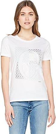 HUGO BOSS Tishirti 10131643 01, Camisa Manga Larga para Mujer, Blanco (White 100), Large