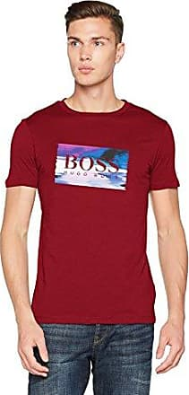 Dandre, Camiseta para Hombre, Rojo (Medium Red 611), Large HUGO BOSS
