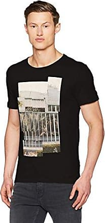 Tonight 10197425, Camiseta para Hombre, Negro (Black), Medium HUGO BOSS
