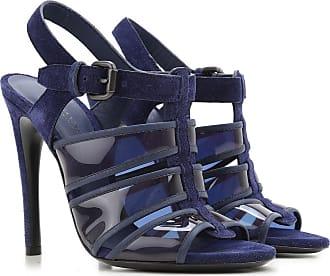 Sandals for Women On Sale in Outlet, Midnight Blue, Denim, 2017, 7.5 Bottega Veneta
