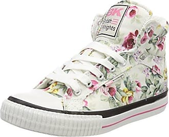DEE, Zapatillas Altas para Mujer, Blanco (Off White/Pink Flower 26), 36 EU British Knights