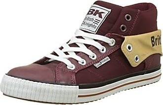 Roco, Baskets Hautes Homme, Rouge (DK Burgundy/Black), 42 EUBritish Knights