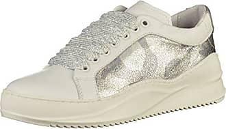 BrodaX, Damen Sneakers, Mehrfarbig (1570 White/Tan/Dark Lime), 36 EU Bronx