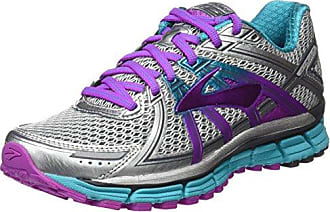 Adrenaline GTS 17, Zapatos para Correr para Mujer, Multicolor (Silver/purplecactusflower/Blue), 38 EU Brooks