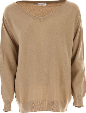 Sweater for Women Jumper On Sale, Beige, linen, 2017, 8 Brunello Cucinelli