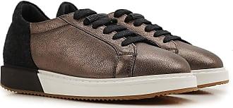 Sneakers for Women On Sale, Bronze, Leather, 2017, 7.5 Brunello Cucinelli