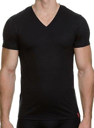 Camiseta regular fit con cuello redondo para hombre, talla 39, color negro 007 Bruno Banani