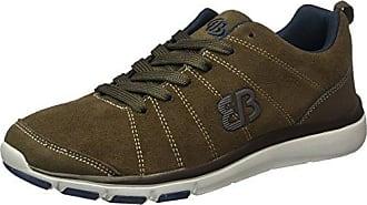 Hunter 541166 - Zapatillas clásicas de cuero nobuck para hombre, color marrón, talla 45 Brütting