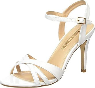 50.3.108, Sandales Bout Ouvert Femme - Blanc - Weiß (White), 38Primafila