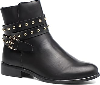 Bottine Buffle « Bootie Clous Plats « Noir Nd8Wi82ea