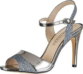 Buffalo 15s90-5 Glitter Metallic PU, Sandales Bride Cheville Femme, Argent (Silver), 41 EU