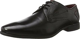 Bugatti Gallo T31141 - Zapatos clásicos de cuero para hombre, color negro, talla 43