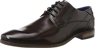 Bugatti 311252042115, Zapatos de Cordones Derby para Hombre, Marrón (Dark Brown/Blue), 43 EU