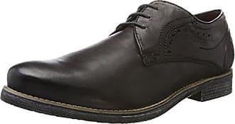 Bugatti 311256043069, Zapatos de Cordones Derby para Hombre, Marrón (Taupe/Dark Blue 1441), 44 EU