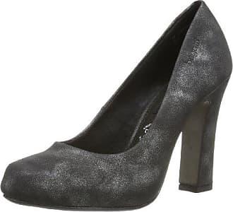 V43616R - zapatos de tacón cerrados de material sintético mujer, color negro, talla 41 Bugatti