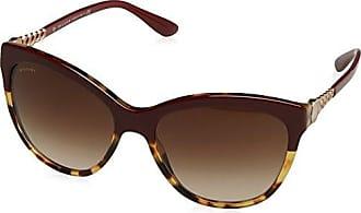 BVLGARI Herren Sonnenbrille 0BV7027 504/73, Braun (Dark Havana/Brown), 57