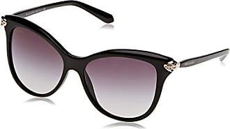 Womens 0BV8157BQ 901/62 Sunglasses, Black/Violet Gradient Polarized, 57 Bulgari