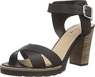 833003E2L, Sandales Bout Ouvert Femme - Noir - Schwarz (Blck), 39Bullboxer