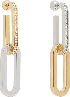 Burberry Crystal-embellished mismatched chain-link earrings zOV98wB9ox