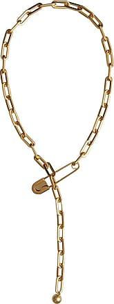 Kilt Pin Gold-plated Long Link Drop Necklace - Metallic Burberry 76ROyAqy