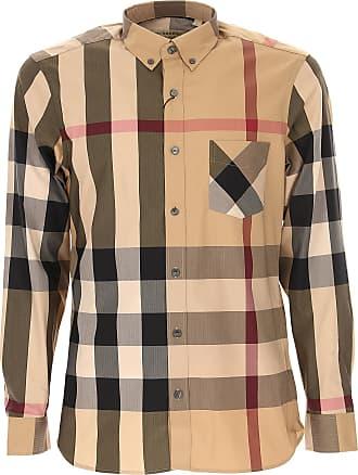 Shirt for Men On Sale, Stone Grey, Cotton, 2017, XS - IT 44 XXL - IT 54 Burberry