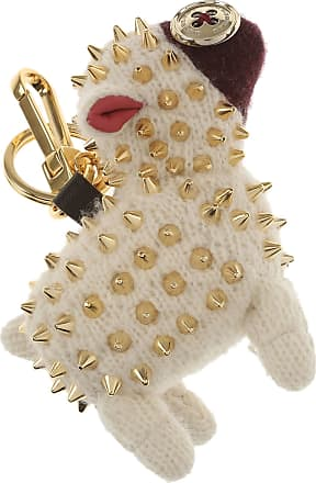 Burberry Key Chain for Women, Key Ring On Sale, White, Wool, 2017, One size
