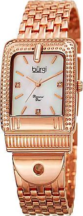 Bürgi Burgi Unisex Rose Goldtone Bracelet Watch-B-171rg t1N7g