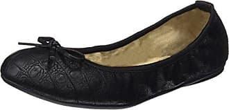 Bondi, Bailarinas con Punta Abierta para Mujer, Negro (Black/Gold 327), 37 EU Butterfly Twists
