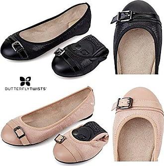 Butterfly Twists Penelope Black, Schuhe, Flache Schuhe, Ballerinas, Schwarz, Female, 36
