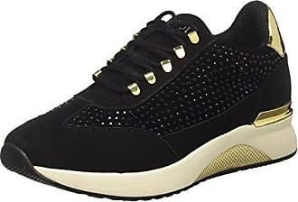 CafèNoir KEA111, Baskets Hautes Femme, Noir (Nero 010), 35 EUCafènoir