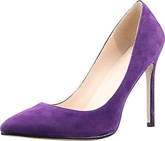 Calaier Damen Caeverybody 10CM Stiletto Schlüpfen Pumps Schuhe, Violett, 36.5