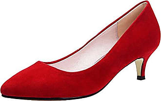 Damen Plateau, Rot - Leather-Red-10cm Heel - Größe: 39 Minitoo