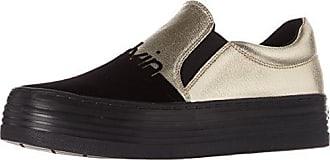 Genna Canvas Blk, Zapatillas para Mujer, Negro (Black R3768Blk), 40 EU Calvin Klein