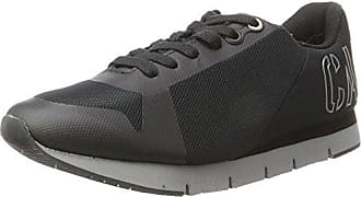 Edwin Rub Smooth/Hf, Baskets Homme, Multicolore (Black/Pewter), 42 EUCalvin Klein