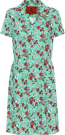 Bedrucktes Hemdblusenkleid aus Satin Calvin Klein Jeans