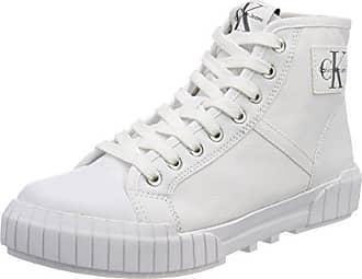 Calvin Klein Jeans Bixi Nylon, Zapatillas Altas para Mujer, Blanco (Wht 000), 38 EU