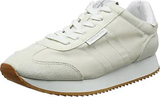 Damen Tea Metallic Jacquard/Suede Sneakers, Gold (GOL), 40 EU Calvin Klein Jeans