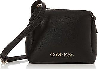 Calvin Klein Ck Candy Small Crossbody Logo, Sacs bandoulière femme, (Logo Print Black), 8x16x18 cm (B x H T)