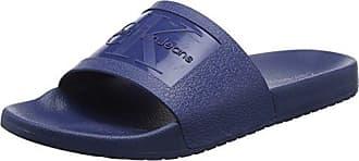 Vital Nylon, Sandalias con Punta Abierta para Hombre, Azul (Stb 000), 45 EU Calvin Klein Jeans