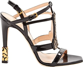 Pre-owned - Patent leather sandals Calvin Klein a7gL7LHZ