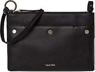6b7ac7883a00b Calvin Klein Damen Frame Saddle Bag Umhängetasche Schwarz Black ...