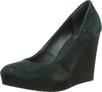 KMB Cave, Zapatos de Tacón para Mujer, Verde (Dark Green), 37 EU