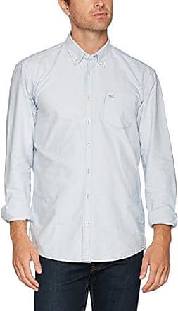 Dan B.D. 1/1, Camisa Casual para Hombre, Mehrfarbig (Dark Blue 14), 40 Camel Active