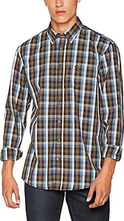 Jack B.D. 1/1, Camisa Casual para Hombre, Multicolor (Petrol Cor 53), 46(Talla del Fabricante: X-Large) Camel Active