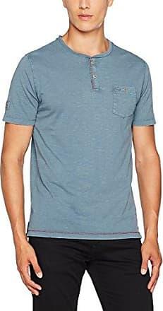 Henley 1/2 Peached, Camiseta para Hombre, Azul (Petrol 58), M Camel Active